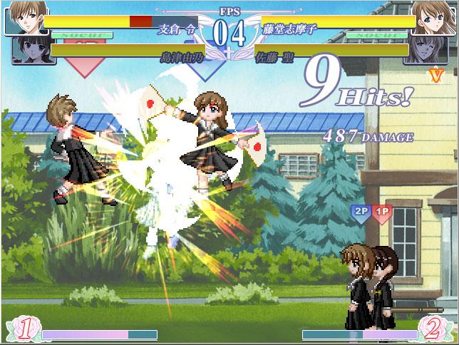 2vs2の姉妹格闘ゲーム「マリばと!」体験版