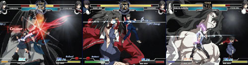 PS2『MELTY BLOOD Actress Again』戦闘画面