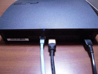PS3 160GB背面