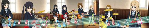 PSP『けいおん! 放課後ライブ!!』スクリーンショット
