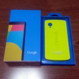Nexus 5とバンパーケース ブライトイエロー